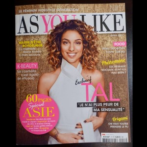 AS YOU LIKE magazine_TAL_couverture