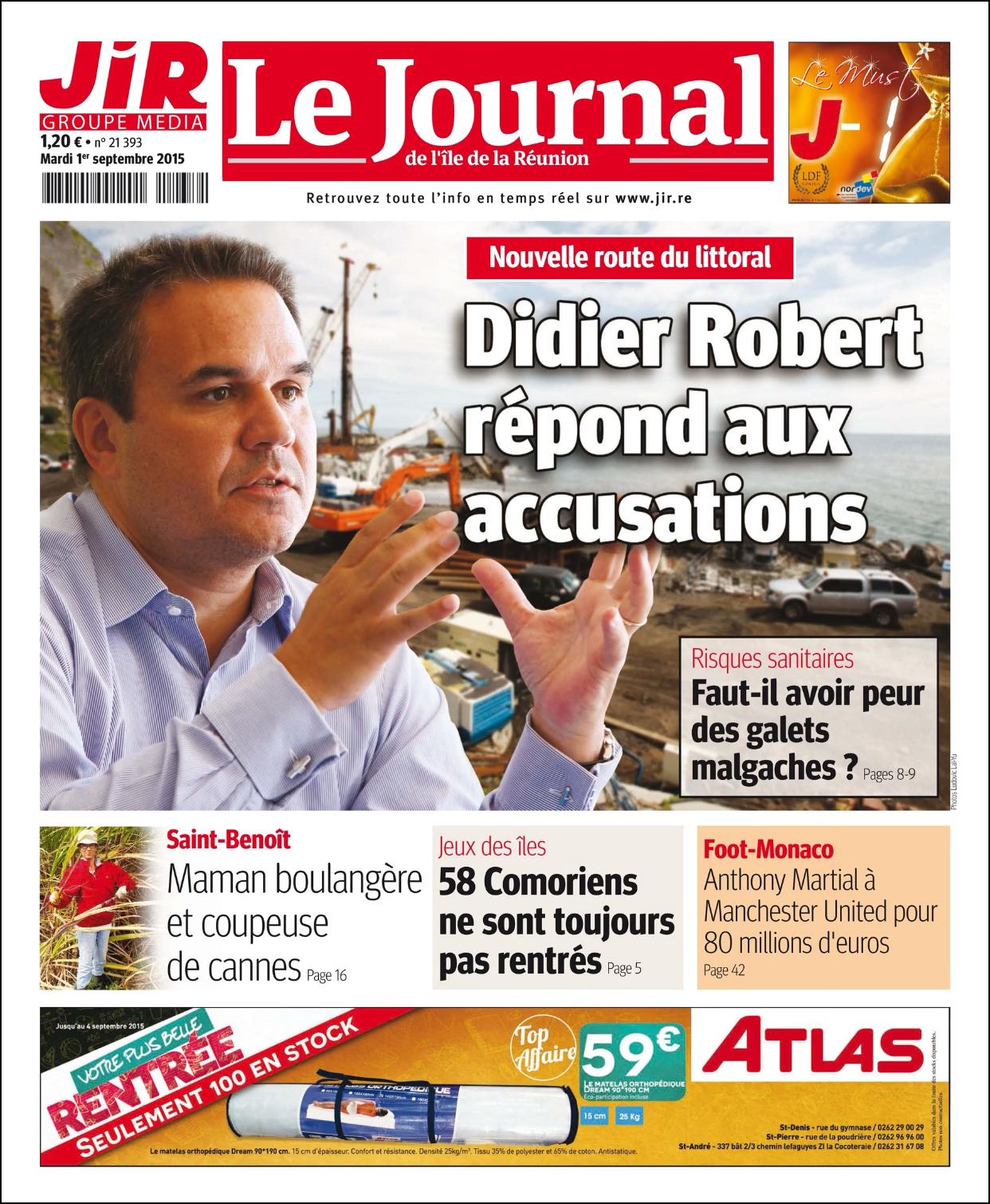 couverture David-Minh Tra dans Journal de la Réunion