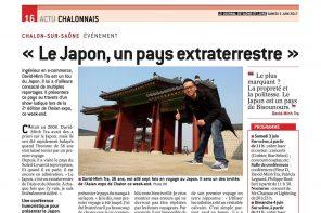 David-Minh TRA dans le journal de Saône-et-Loire en Juin 2017
