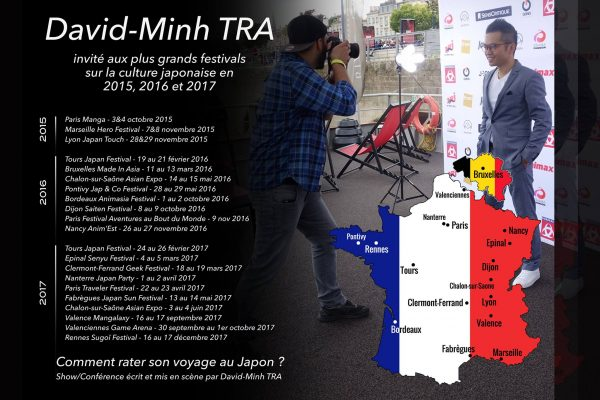 David-Minh TRA invité dans les plus grands festivals Japon, en France et Belgique