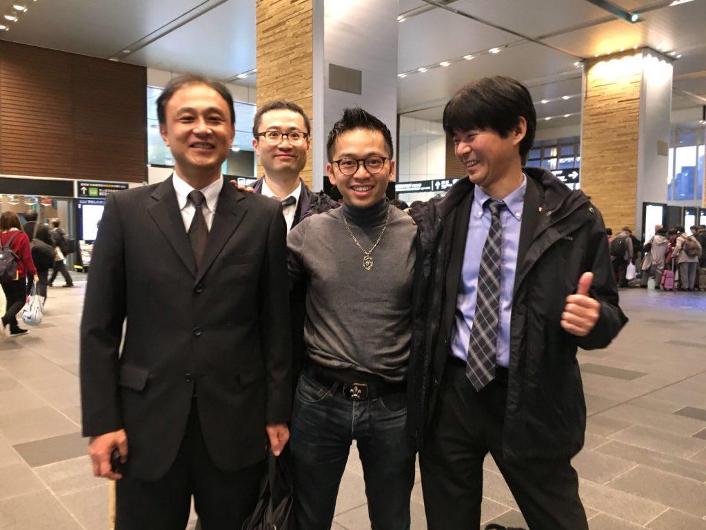 David-Minh TRA avec les grands organisateurs japonais