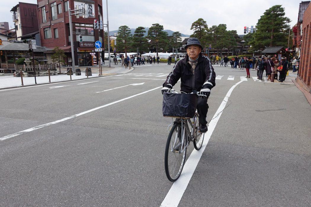 Personne âgée Takayama Japon